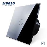 Wholesale Livolo EU Standard Wall Switch VL C701S Gang Way Control Crystal Glass Panel Wall Light Touch Screen Switch