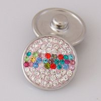 aw jewelry - Hot sale KB2402 AW Beauty rhinestone MM snap buttons for DIY ginger snap bracelets Accessories charm jewelry