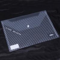 Wholesale 10pcs Deli document bag A4 transparent snap button file bag