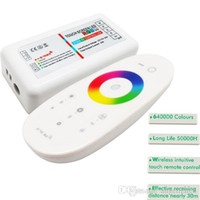 Wholesale 2 G LED RGB Touch RF Dimmers Remote RGBW Touch Controller Wireless for LED Bulb Strip Light
