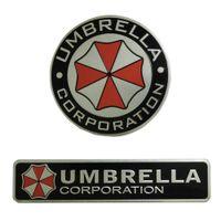 audi umbrella - 3D Stickers Aluminum Umbrella Corporation Sticker Resident Evil decals emblem decorations Car Decor For BMW AUDI VW Ford Sticker