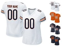 bears home jersey - 2016 Bears Women Youth Game Chicago Custom Stitched Football Jerseys Any Name Number URLACHER Home Away White Blue Orange High Quality Wear