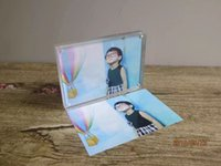 Wholesale 7inch Magnetic acrylic photo frame desk stand gift photo frame homedecoration