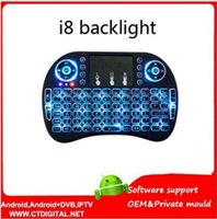 android key board - i8 backlight key board i8 Backlit air Mouse for MXQ Pro M8S Plus T95 S905 S812 Smart Android TV Box PC