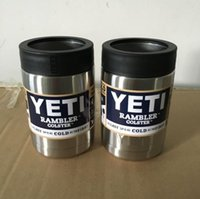 beer in cans - High Quality oz Stainless Steel Colster can Yeti Coolers Rambler Colster YETI Cups Cars Beer Mug Insulated Koozie oz in Stock