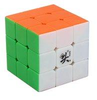 Precio de Dayan juguete-Venta al por mayor-Dayan Guhong V2 3x3 velocidad Stickerless cubo rompecabezas de juguete 6 de color sólido