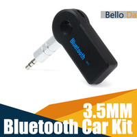 Wholesale Universal Bluetooth Car Kit mm Streaming Wireless AUX Audio Music Receiver Adapter Handsfree with Mic For Phone MP3 iPAD