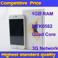 Wholesale Goophone i6s Clone Phone With Fingerprint Identification MTK6582 Quad Core GB RAM GB ROM i6S Cell Phones DHL Free forcity