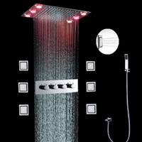 bath systems - luxury bath feeling way conceal wall mounted shower system high quality electric power led color change shower with light