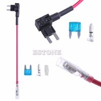 Wholesale Car Micro Blade Mini ATM Fuse Adapter tap DUal Circuit Adapter Holder New