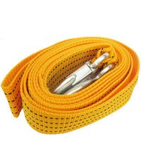 Wholesale Freeshipping Car trailer rope trailer belt meters trailer hook Car Tow Rope Strap Belt Towing Ropes Real materials