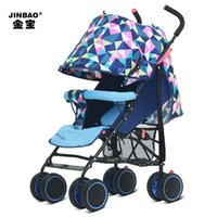 Wholesale Jinbao stroller manufacturer summer light umbrella car can sit can lie portable stroller