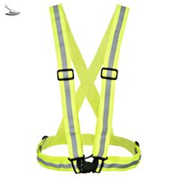 Wholesale New Fashion yellow reflective vest V clothing high visibility Safety belt article printing
