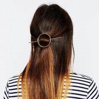Hot Vente Mode Femmes Fille Bref Hollow ronde Cercle Clip Beauté Cheveux Barrette Tête Adorables Accessoires Cheveux DHF829