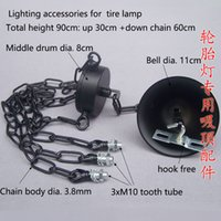 bell tire - 10 Pendant lamp ceiling plate candle chandelier chain bell bearing fittings DIY lighting accessories for tire lamp
