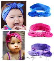 baby pink hair dye - Fashion Baby Cotton Headband Girls Knotted Bow Headwraps Elasticity Tie dye Hairbands Baby Headband Kids Hair Accessories Z293