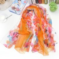 amazon gift wrap - Hot On Amazon Women Fashion Summer Outdoor Scarf Over Sized Imitated Silk All Match Wrap Floral Printed Best Gift FX