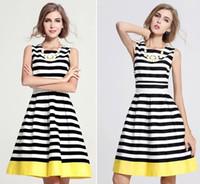 achat en gros de robe bandage de zèbre-2016 Femmes Sexy Classique Zebra Stripe Colorblock Crop Blouse Haute Taille Bodycon Bandage Wiggle Crayon Casual A-ligne Robe Filles Jupe Coton