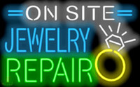 advertising site - On Site Jewelry Repair Neon Sign Necklaces Rings Bracelets Custom Real Glass Neon Company Shop Store PUB Display Advertising Sign quot X20 quot