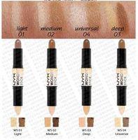 Wholesale 12pcs NYX Wonder Stick Concealer Eye Face Makeup Cover Women Med Tan Highligher Light Deep Medium Universal Colors