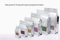 al foods - 50pcs size cm wide x28cm high x8cm zip lock AL foil food packing bags