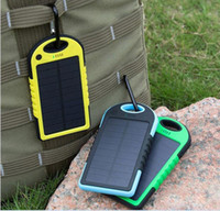 apple usb camera - Universal mAh Solar Charger Waterproof Solar Panel Battery Chargers for Smart Phone PAD Tablets Camera Mobile Power Bank Dual USB DHL