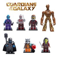 Wholesale Guardians of the Galaxy Groot Tree Man Ronan Rocket Raccoon Star Lord Drax Minifigure Building Blocks Compatible with Lego Decool