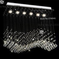 art deco curtain - Modern k9 crystal Chandeliers lamps curtains Bedroom lamp Hall luxury Lights quality guarantee Energy saving lamps