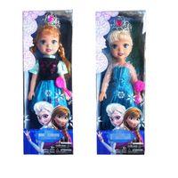 best baby music toys - 48cm music High Quality PVC doll princess Elsa Boneca Anna baby toy best gift for girls