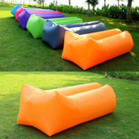 Wholesale Fast Inflatable Camping Sofa banana Sleeping Bag Hangout Nylon lazy lay laybag Air Bed chair Couch Lounger