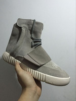 Cheap Wholesale Cheap 2016 Adidas Yeezy Boost 750 Grey Kanye West Baksetball Shoes Women Men Best Quality Sports Classic Yeezys Fashion Sneaker