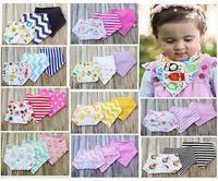 Wholesale Baby Bibs Cotton Dot Chevron Bandana Bibs Infant Babador Saliva Bavoir Towel Baberos For Newborn Baby Girls Boys