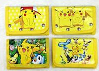 Wholesale Poke Wallets purse children Poke Coin Purses Pikachu wallet card Holder Poke Go Cartoon students wallets