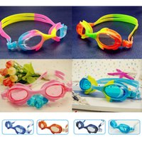 Wholesale The new lovely waterproof anti fog S1930F children cartoon swimming goggles high grade mirror