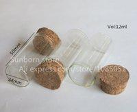 bead storage tubes - ml Clear Glass tube with Wood Cork cc cork tube bottle Storage Decorative jewelry beads Dispaly