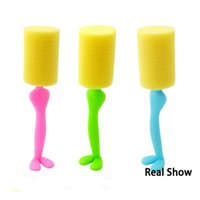Wholesale Vertical cup brush kitchen cleaning and scrubbing brush cup sanitary sponge brush sponge brush bottle brush head long handle
