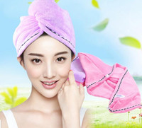 Wholesale Coral velvet cap thicker dry hair soft and absorbent bath rub Ms creative turban adult shower cap quick drying hair