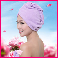 Wholesale Thick Series G Towels Bathroom Hair Towel Womens Girls Magic Hair Drying Hat Cap Salon Towels Quick Dry Bath Microfiber Fabric