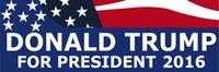 Wholesale DONALD TRUMP FOR PRESIDENT Bumper Sticker quot X quot to America