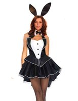 adult cheap costumes - Cheap Sexy Black Bunny Robbit Girl Cosplay Halloween Adult Costume Fancy Dress From Women