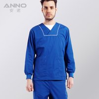 Wholesale 2016 unisex nursing medical doctor nurse uniform long sleeve with comfortable and breathbale