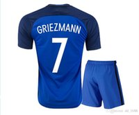Wholesale 2016 adult kit Coat pants Frence NEW BEST QUALITY MATUIDI MARTIAL GRIEZMANN BENZEMA GIROUD kit Jersey shirt CLOTHING