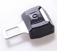 Wholesale safety belt buckle Universal Stoving Varnish Car Seat Brlts Plug Car Safety Belt Clip Fastenr Cord Lock Bolt Plug Over Car Logo Available