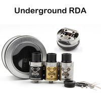 Set Series based space - Newest RDA Atomizers Underground RDA New Base None Post RDA More Space Top Quality Peek Insulator Black Gold SS