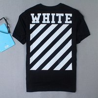 best white cotton tshirt - Hot Sales best edition Off White CO men short sleeve tshirt tee off white virgil abloh t shirt tee kanye west t shirt striped