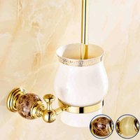 Wholesale Luxury toilet brush holder bathroom accessories in Dubai Min