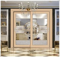 aluminum sliding glass doors - High quality aluminum frosted safety glass sliding door kitchen