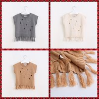 baby blouse design - New Sweet Kids Girls Tassel Sweater Tops Pullover Ripped Design Candy Color Baby Kids Fall Winter Blouse