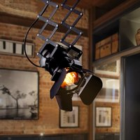 american spotlight - American industrial loft style personality LED track light probe spotlights ceiling light retro ceiling lamp