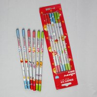 Wholesale Multicolor pencil with card candy color pencil promotional price HB wood pencil for children s gift pieces a card